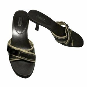 Aerology Aerosoles Holly Brown Leather Sandals